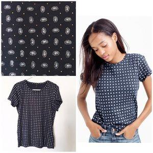 J Crew Sparkle foulard T-shirt Small
